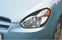 Захист передніх фар Hyundai Accent 2005-2010 р. в. Хюндай Акцент