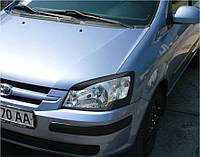 Защита передних фар Hyundai Getz 2002-2009 г.в. Хюндай Гетз