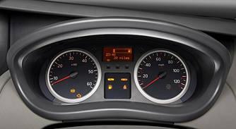 Кільця в щиток приладів (хром) на Renault Trafic + Opel Vivaro 2001-> — Туреччина