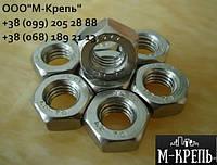 Гайка М10 ГОСТ5915-70 из нержавейки А2 и А4