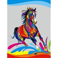 """Картина-раскраска """"Радужный конь""""  30 x 40 см"""