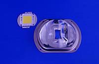Лінза світлодіодної матриці LED Lens 20-100W 60°х150° коліматор, фото 1