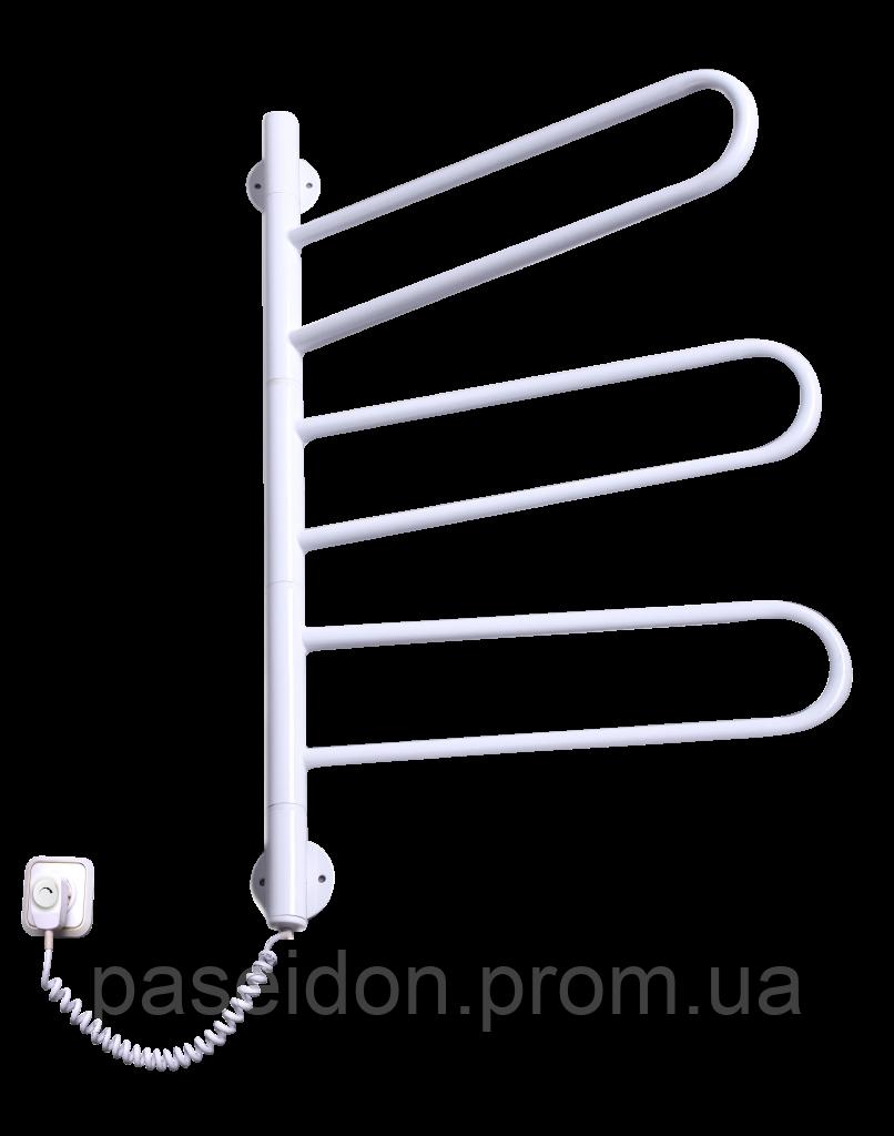 Полотенцесушитель Флюгер 3 поворотный белый