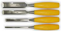 Набор стамесок 4шт (6,12,18,25мм) пластиковая ручка Sigma