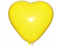 """Сердце 6"""" (15 см) желтое пастель. Воздушные шарики латексные в форме сердца оптом"""
