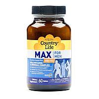 Мультивитаминный и минеральный комплекс, без железа Max for Men (60 табл.) Country Life