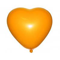 """Сердце 6"""" (15 см) оранжевое пастель. Воздушные шарики латексные в форме сердца оптом"""