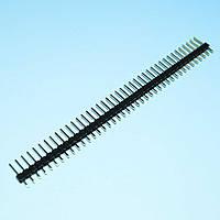 Разъем PLS-40 на плату штекер прямой 1ряд (40конт.)   Ninigi