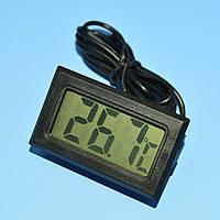 Термометр цифровой LCD -50-+110*С черный (L-1м)  FY-10