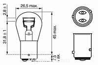 Лампа P21/5W  12V 21/5W  Eco на Renault Trafic 2001-> — Bosch - 1987302814
