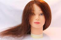 Голова для моделирования причесок натуральная 918 (40 см)