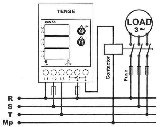 Микропроцессорное реле напряжения электронное для защиты трехфазных асинхронных двигателей