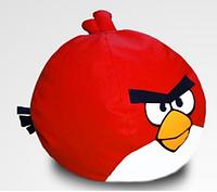 "Бескаркасное кресло ""Злая птица красная"", подарок ребенку"