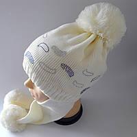 Детская шапка уши на флисе 6-12 лет оптом