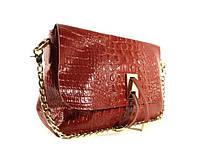 Кожаная женская сумочка Eva 60883 красная рептилия