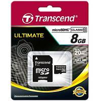 Карта памяти Transcend MicroSDHC 8GB Class 10 TS8GUSDHC10