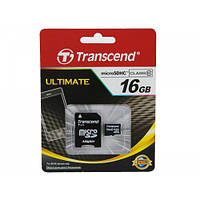 Карта памяти Transcend MicroSDHC 16GB Class 10