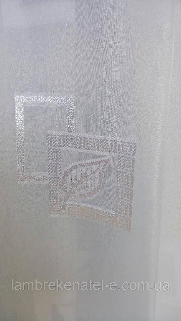 Тюль шифон листочек в квадратике