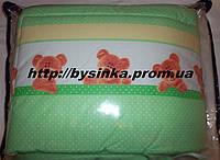 """Защита для детской кроватки в кроватку защитное ограждение бортики бампер - """"Мишки в горошек"""" Зеленый"""