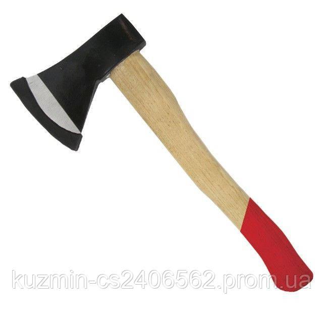 Топор 1000г деревянная ручка INTERTOOL HT-0270
