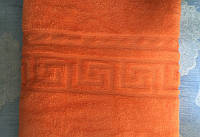 Плед из микрофибры, оранжевого цвета