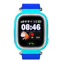 Детские умные часы Q100.(Сенсорный дисплей + Wi-Fi). Синий.
