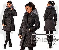 Пальто из стеганной плащевки осень-зима размер 42 -54