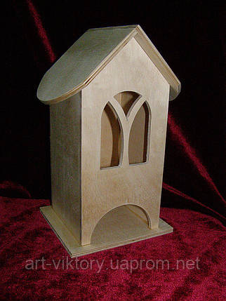Чайный домик для декупажа арочный (10 х 10 х 23 см), фото 2