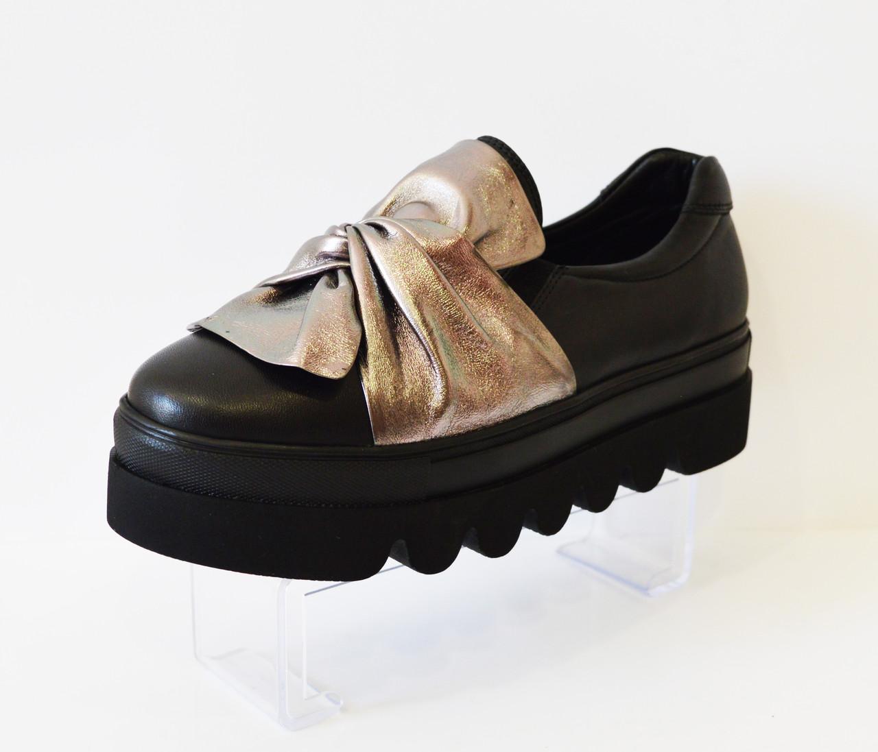 Туфли женские с бантом Aquamarin 323