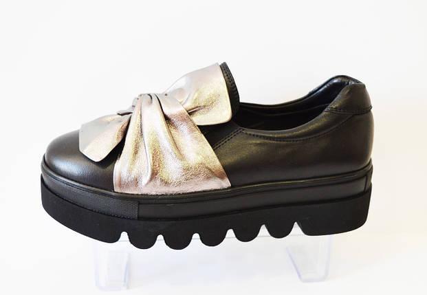 Туфли женские с бантом Aquamarin 323, фото 2