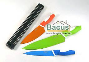 Набор ножей из нержавеющей стали с керамическим покрытием и магнитным держателем (4 пр./наб.) Besser (10157)