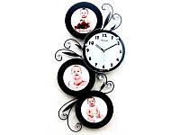 Часы настенные Семейные Ажур Чёрные