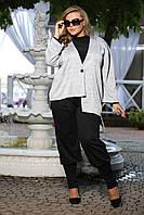 Модные женские брюки Купаж французский трикотаж большого размера 48-94 батал