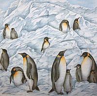 Редкая салфетка для декупажа Пингвины 3138