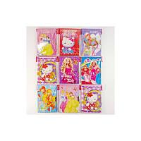 "Блокнот на замке 50K-1/2217 ""Барби/Hello Kitty/Губка Боб/Человек-паук"" в конверте"