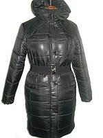 Модный женский теплый пуховик черного цвета 44-46