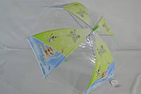 Прозрачный детский зонт трость для девочек и мальчиков, с красочными рисунками., фото 1