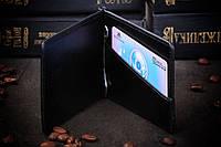 Зажим для денег из натуральной кожи, фото 1