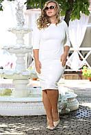 Классическое трикотажное платье футляр Блэк стежка  деловое осеннее, большого размера 48-94 батал