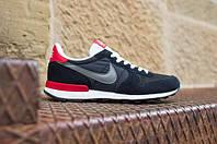 Кроссовки мужские Nike Internationalist (найк интернационалист) черные, обувь найк