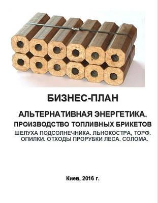Бизнес – план (ТЭО). Топливные брикеты. Производство. Переработка отходов сельского хозяйства. Шелуха и лузга