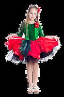 Мак цветочный карнавальный костюм для девочки