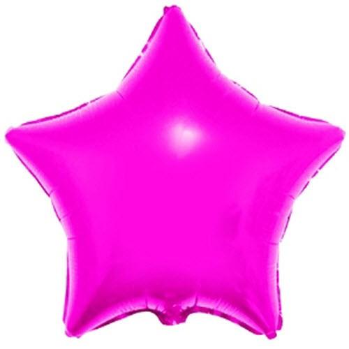 1204-0099 Шар фольгированный звезда  45 см малиновая