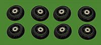 Колеса для роликов 76 мм. 8 шт. (черные)