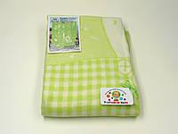 Хлопковое одеяло в роддом (зеленое с мишками)