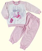 Пижама для девочек ТМ Ля-Ля, футер (артикул 3АК117, 3АК117ф, 3АК170ф)