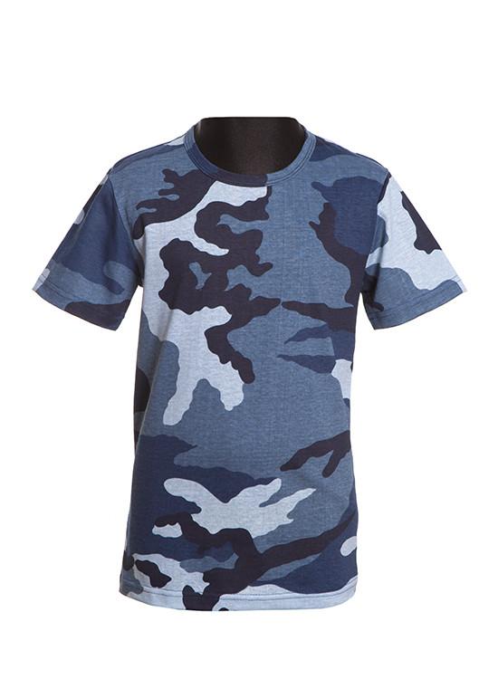 Детская футболка камуфляжная
