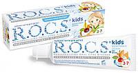 РОКС детс.зубная паста Фруктовый рожок (без фтора), 45 г. - Для детей 3-7 лет  При видимых признаках флюороза