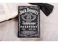 Обложка на паспорт Jack Daniels экокожа