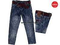 Стильные джинсы с поясом для мальчика 1,2,3,4 года 200244